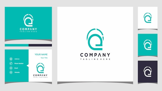 Creative letter q logo concept and business card premium premium vector