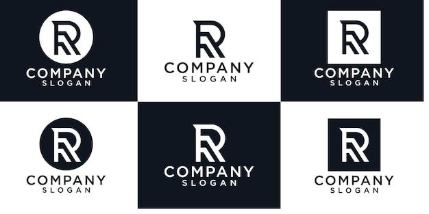 Creative letter r logo design template