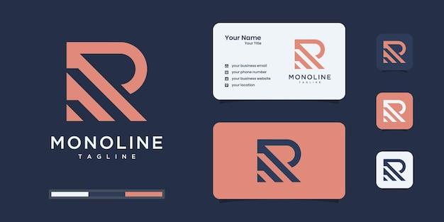 抽象的な概念を持つ創造的な文字rのロゴデザイン。コンサルティング、初期、金融会社のロゴ