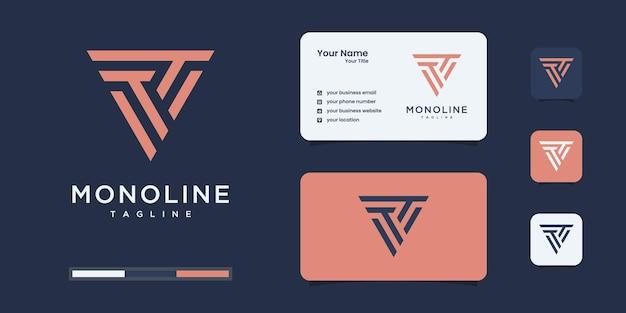 Творческое письмо t логотип концепцию. • логотип вашей компании.