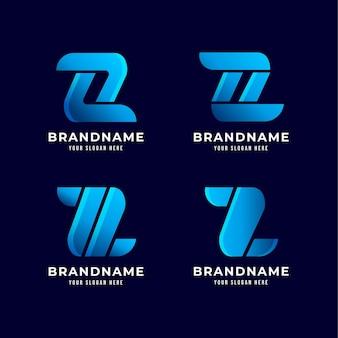 Креативные шаблоны логотипов буква z