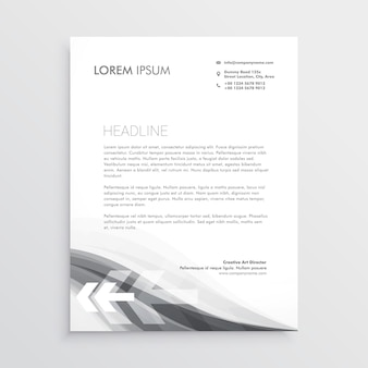 Creative letterhead abstract template design