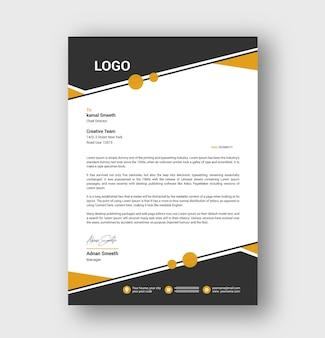 Creative letterhead or business letterhead template design