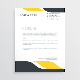Letterhead vectors photos and psd files free download creative letterhead design template vector accmission