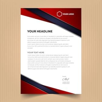 크리 에이 티브 레터 헤드 디자인 서식 파일