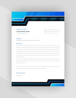 Creative letterhead template design with abstract style.