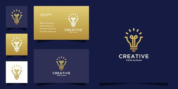 Creative light bulb logo and business card design