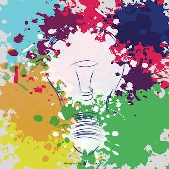創造的な電球のベクトルの背景