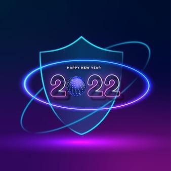 Creative lighting up background celebration happy new year 2022