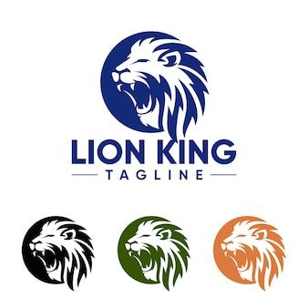 Шаблоны логотипов creative lion