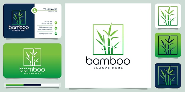Creative logo of bamboo for business company