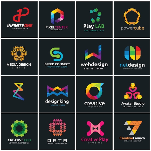 Good Creative Logo Collection, Media And Creative Idea Logo Design Template.