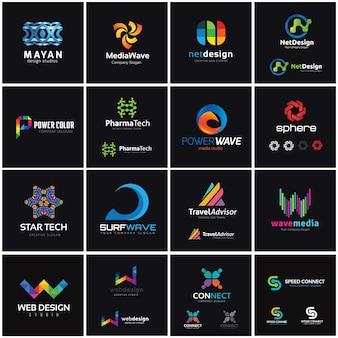 Creative logo collection, media and creative idea logo design template.