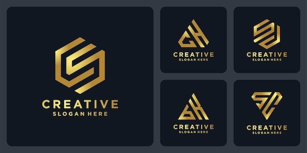 프리미엄 색상의 창의적인 로고 컬렉션.