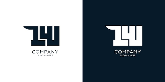 Креативный дизайн логотипа lw
