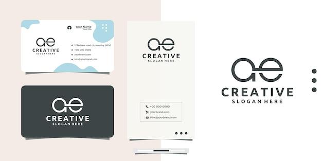 Creative logo a e