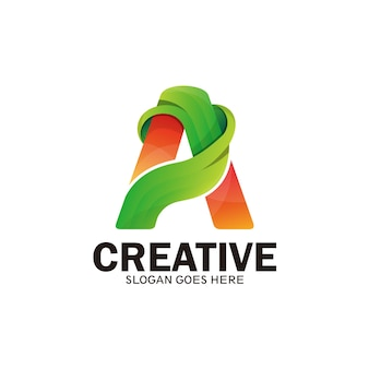 Creative logo letter a. modern and dynamic logo initials letter a-vector