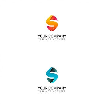 Creative logo of letter s