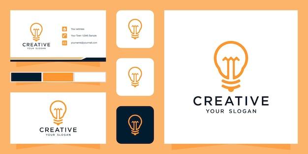 Креативный шаблон логотипа и визитная карточка