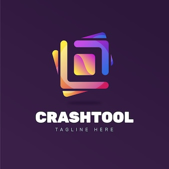 Креативный шаблон логотипа с слоганом