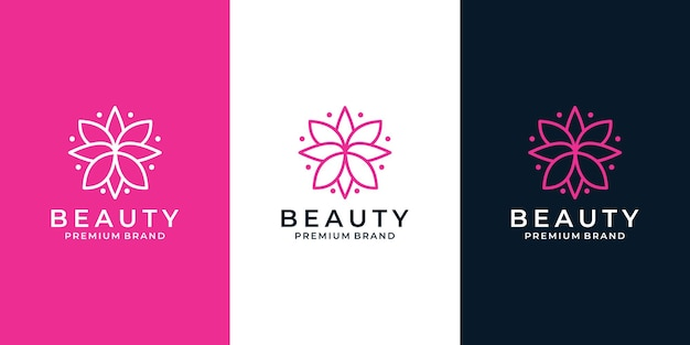 あなたのビジネスのための創造的な蓮の美しさの花のロゴデザイン