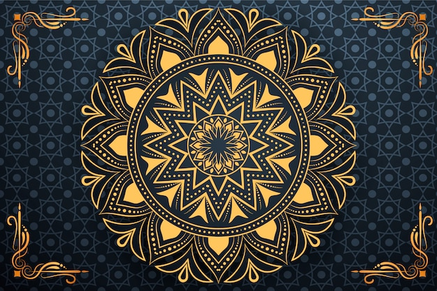 Creative luxury arabesque mandala background