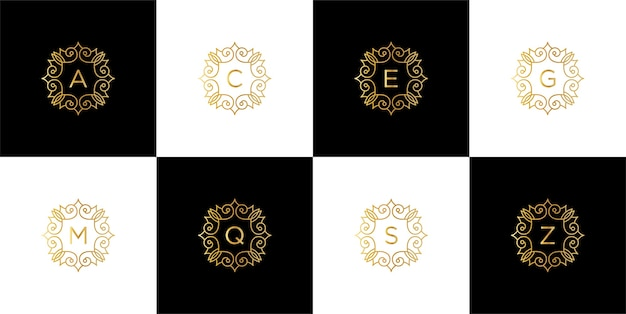 Creative luxury branding logo template