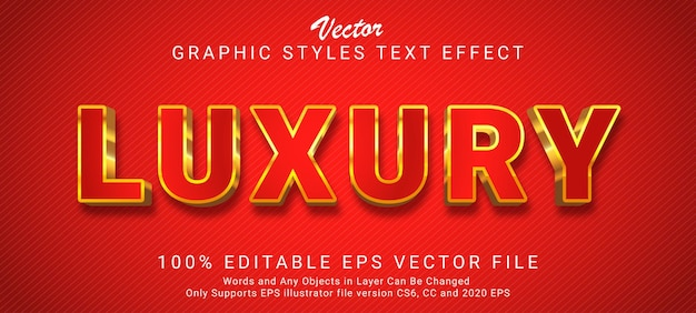 Creative luxury gold text style effect
