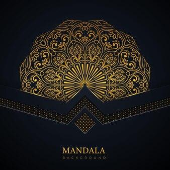 創造的な豪華な曼荼羅の背景アートデザイン