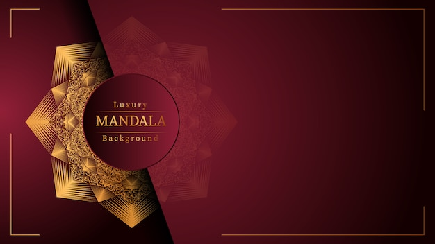 Creative luxury mandala background with golden arabesque decoration