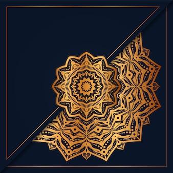 Creative luxury mandala background with golden arabesque decoration