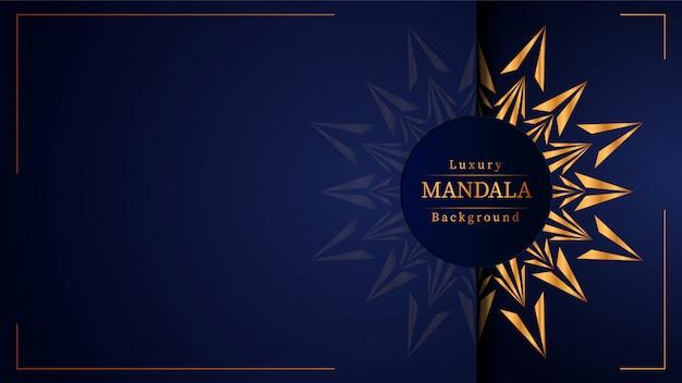 Creative luxury mandala background with golden arabesque