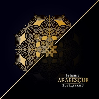 Creative luxury mandala background with golden creative arabesque pattern arabic islamic east style