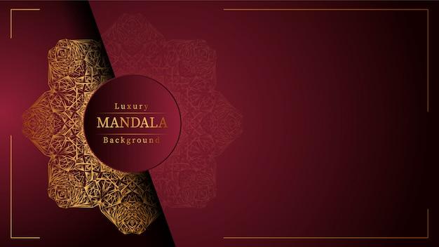Creative luxury mandala background with golden