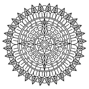 創造的な豪華な曼荼羅イラスト
