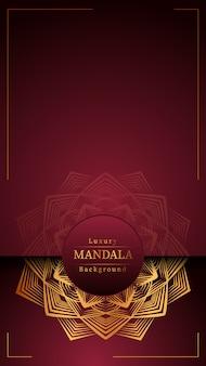 Creative luxury mandala with golden
