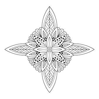 Творческая роскошь иллюстрации мандалы