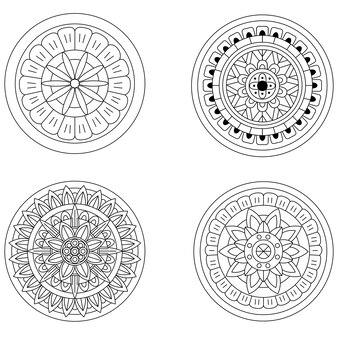 Творческий роскошный набор иллюстрации мандалы