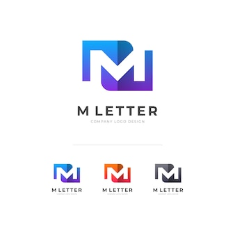 Creative m letter logo d