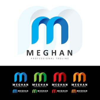 Creative m letter logo