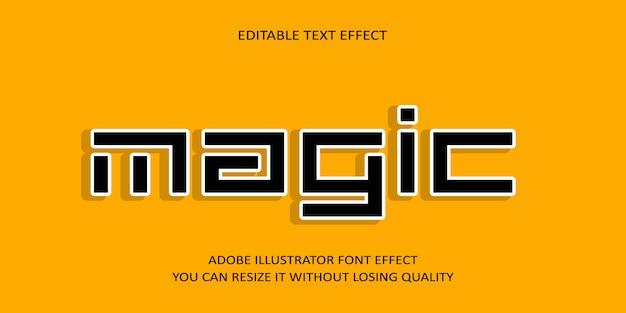 Creative magic editable vector text effect font