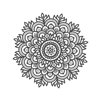Creative mandala with floral elements