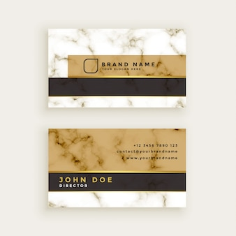 Creative marble texture business card design