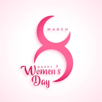 Creative march  womens day celebration background