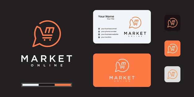 Creative market logo or online shop designs template
