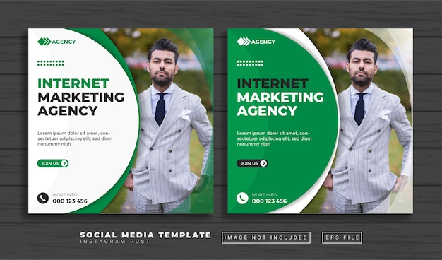 Creative marketing agency social media post template