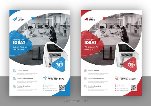 Creative marketing promotional flyer design and brochure cover page template