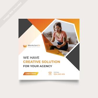 Creative marketing social media post square
