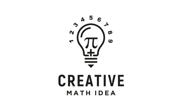 Дизайн логотипа creative mathematics