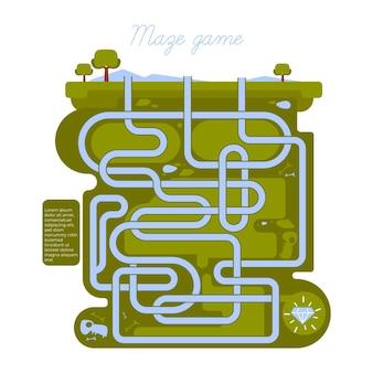 Labirinto creativo per foglio di lavoro per bambini
